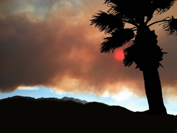 Palm Springs Poster featuring the photograph Mountain Fire Sunset by Stan Magnan