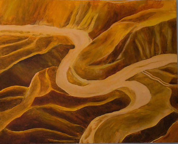 Middle East Poster featuring the painting Mountain Pass by Julia Collard