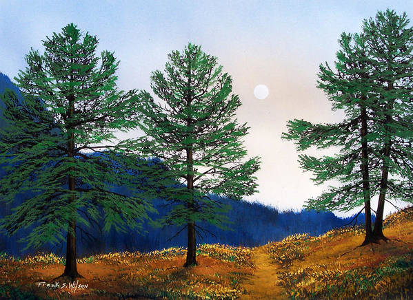 Poster featuring the painting Mountain Pines by Frank Wilson