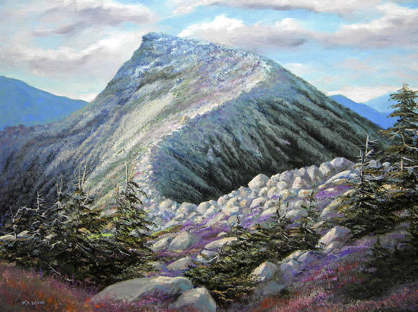 Landscape Poster featuring the painting Mountain Ridge by Frank Wilson