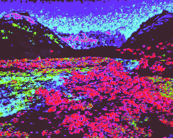 Poster featuring the digital art Mountain River D4 by Modified Image
