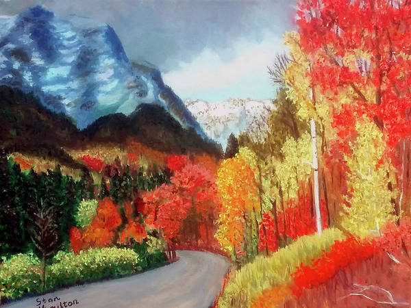 Mountain Poster featuring the painting Mountain Scene by Stan Hamilton