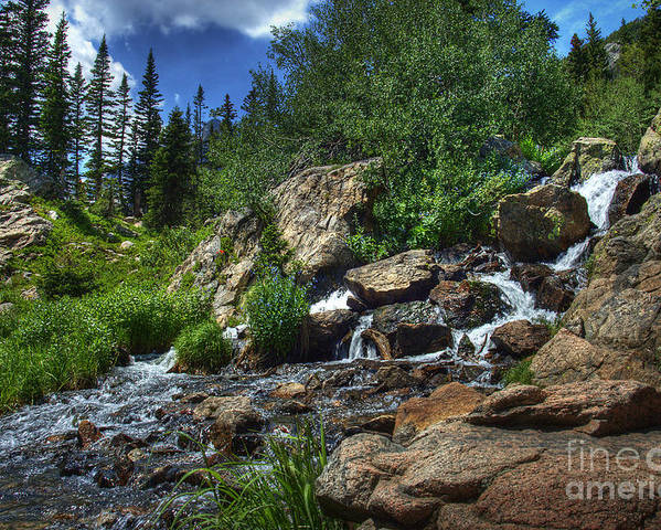 Landscape Poster featuring the photograph Mountain Stream 3 by Pete Hellmann