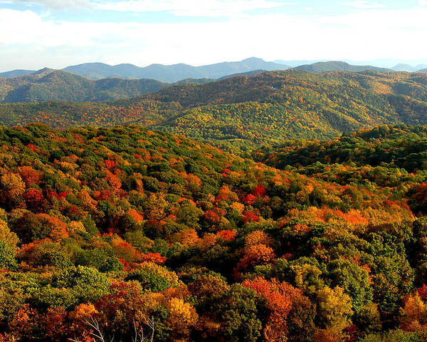 Fall In The Mountains Poster featuring the photograph Mountains Of Color by Alan Lenk