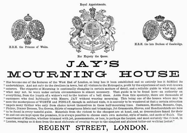 1891 Poster featuring the photograph Mourning House, 1891 by Granger
