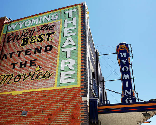 Americana Poster featuring the photograph Movie Sign 1 by Marilyn Hunt
