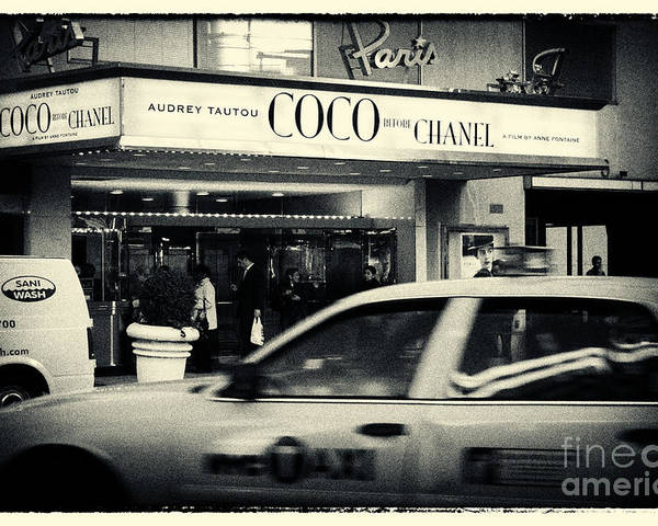 Filmnoir Poster featuring the photograph Movie Theatre Paris In New York City by Sabine Jacobs