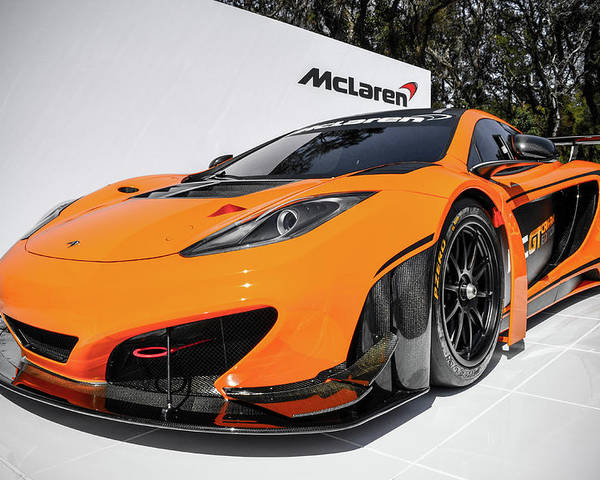 Mclaren Poster featuring the photograph MP4 by Bradley Dever