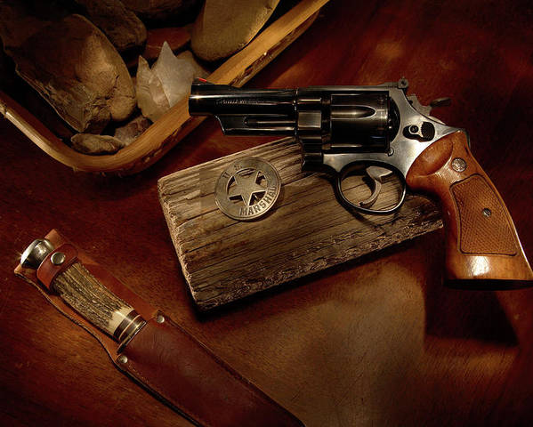 Handgun Poster featuring the photograph Mr. 357 by Daniel Alcocer