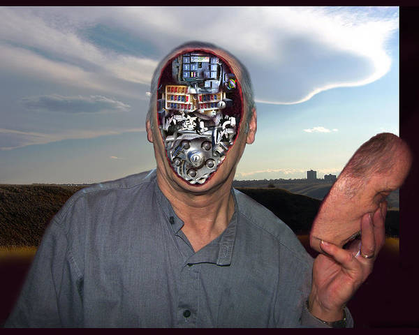 Surrealism Poster featuring the digital art Mr. Robot-otto by Otto Rapp