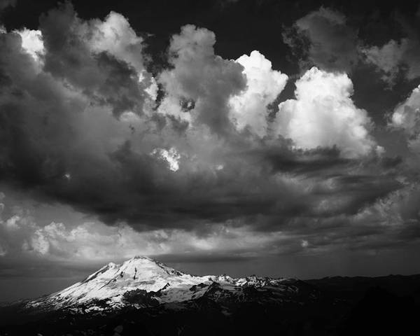 Mount Poster featuring the photograph Mt. Baker Thunderstorm. by Alasdair Turner