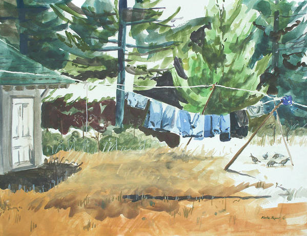 Jeans Poster featuring the painting Mt. Barnabe Wash by Kate Peper