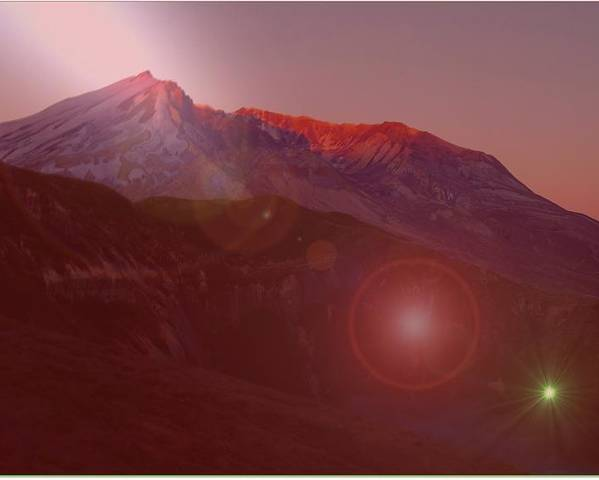 Mountains Poster featuring the photograph Mt St Helens by Jeff Swan