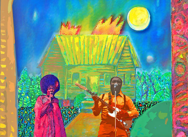 Music Poster featuring the painting Muddy Waters by Joe Roache