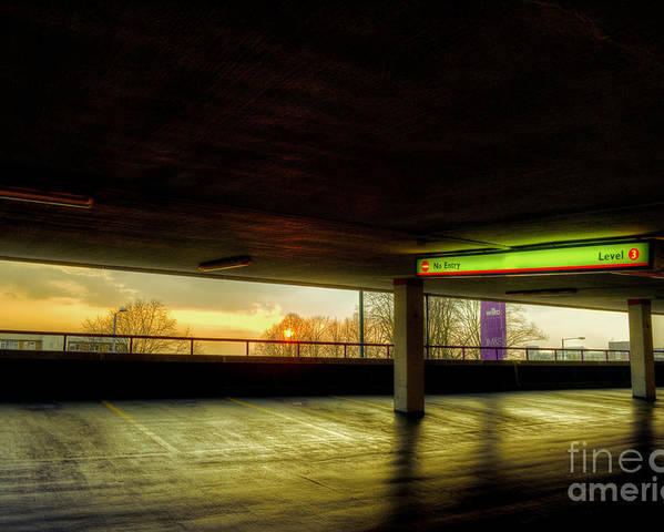 Harvey Centre Poster featuring the digital art Multi-storey Sunset by Nigel Bangert