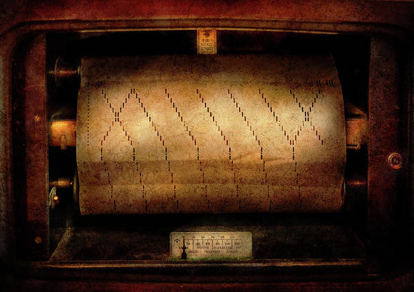 Hdr Poster featuring the photograph Music - Piano - Binary Code by Mike Savad