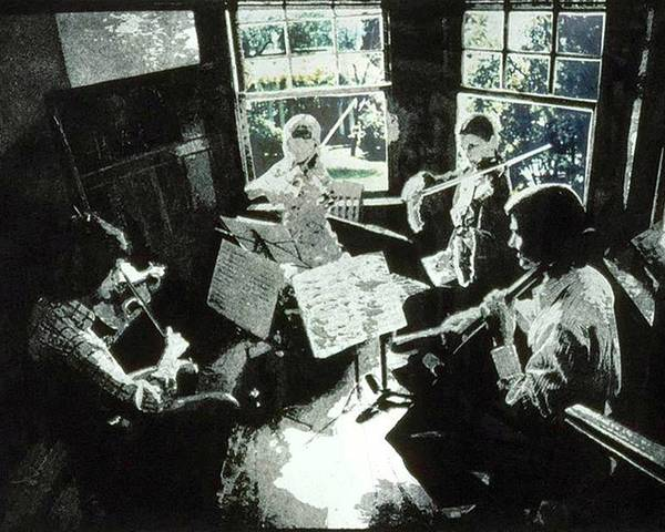 String Quartet Poster featuring the mixed media Music As Light by Randy Sprout