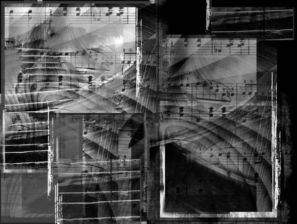 Abstract Poster featuring the digital art Musical Steps... by Art Di