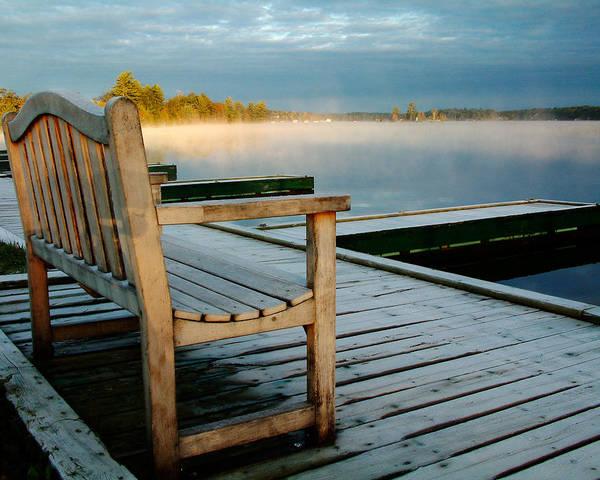 Sunrises Poster featuring the photograph Muskoka Lake At Sunrise by Linda McRae