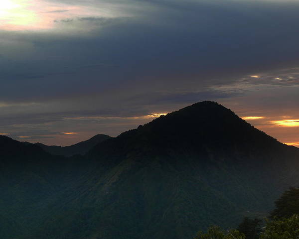 Poster featuring the photograph Mussoorie Sunsets 6 by Padamvir Singh