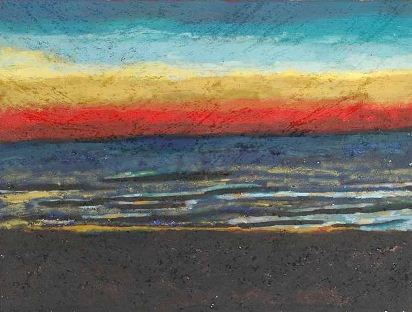 Landscape Poster featuring the painting My Florida Sunset by Rika Maja Duevel