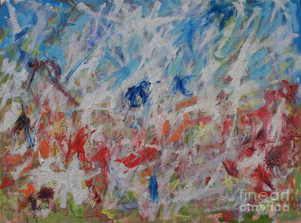 Abstract Poster featuring the painting My Garden In Venice by Michael Henderson