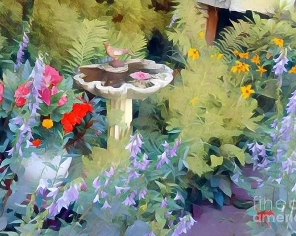 Flowers Poster featuring the photograph My Garden by Jodie Marie Anne Richardson Traugott     aka jm-ART