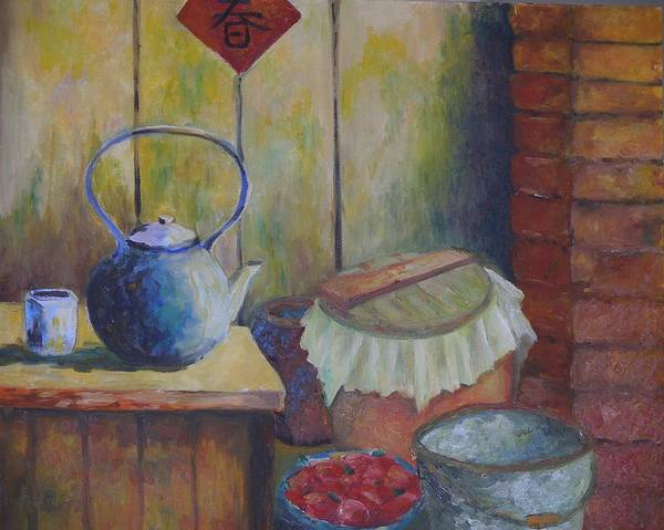 Still Life Poster featuring the painting My Grandma's Kitchen by Wendy Chua