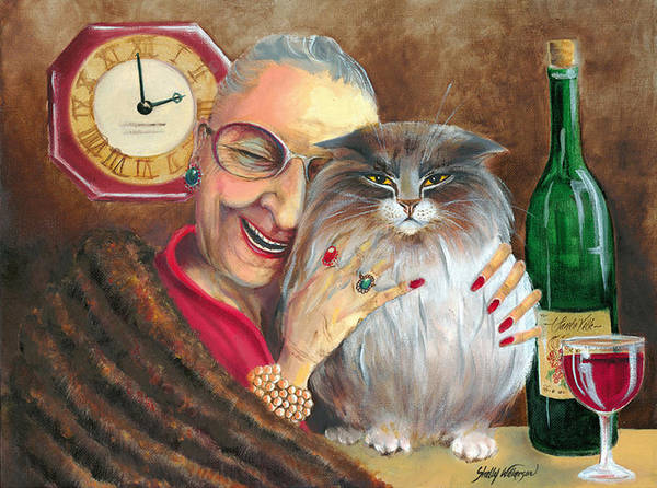 Whimsical Poster featuring the painting My Jewels by Shelly Wilkerson
