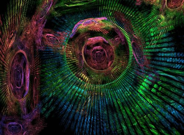 Fractal Poster featuring the digital art My Mind's Eye by Lyle Hatch