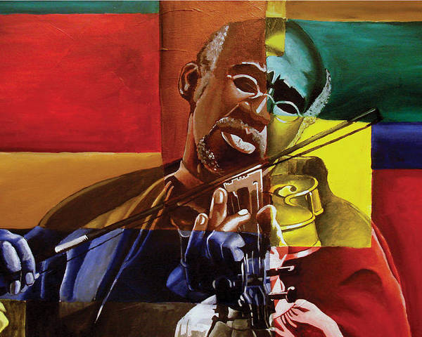 Black Art Poster featuring the painting My Old Friend by Stacy V McClain