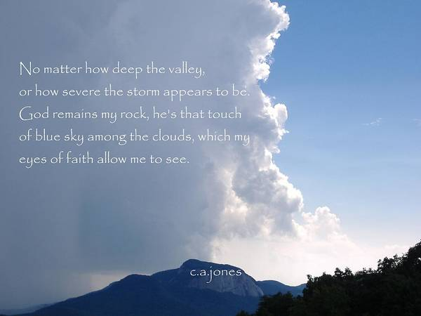Christian Poster featuring the photograph My Rock by Chris Jones