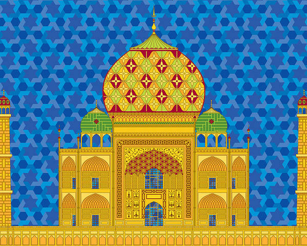 Taj Mahal Poster featuring the digital art My Taj Mahal by Vlasta Smola