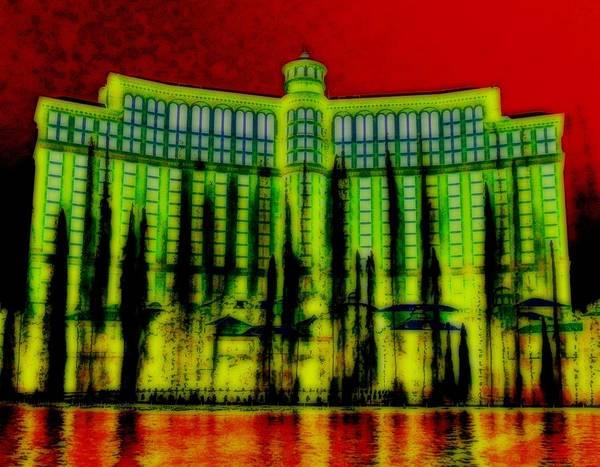 Las Vegas Poster featuring the digital art My Vegas Bellagio 5 by Randall Weidner