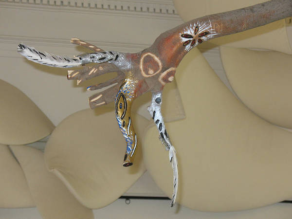 Carved Bird Poster featuring the sculpture My Wild Side Flies by Judith Z Miller