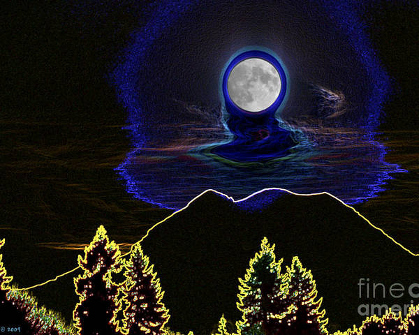 Washington Poster featuring the photograph Mystic Moon by Larry Keahey