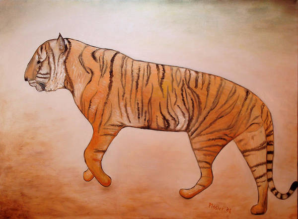 Animal Poster featuring the painting Mystic Tiger by Scott Plaster