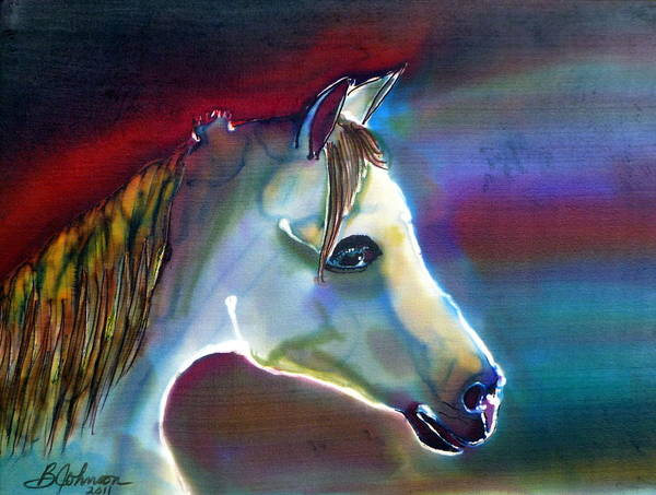 Horse Poster featuring the painting Mystical by Beverly Johnson