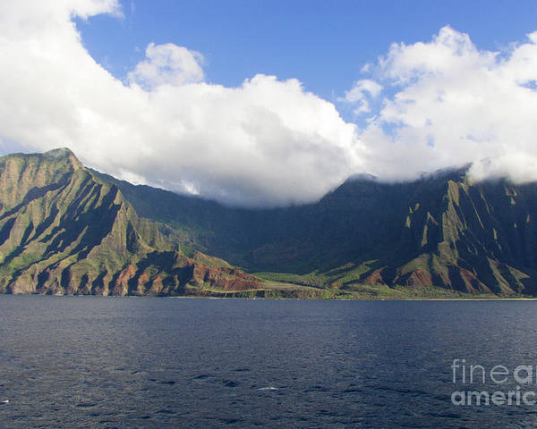 Phil Welsher Poster featuring the photograph Na Pali Coast Kauai by Phil Welsher