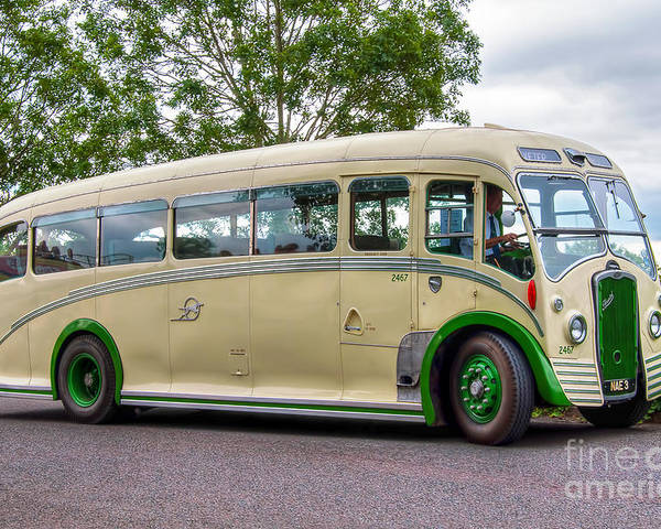 Vintage Bus Poster featuring the photograph Nae 3 - Bristol L6b Coach by Steve H Clark Photography