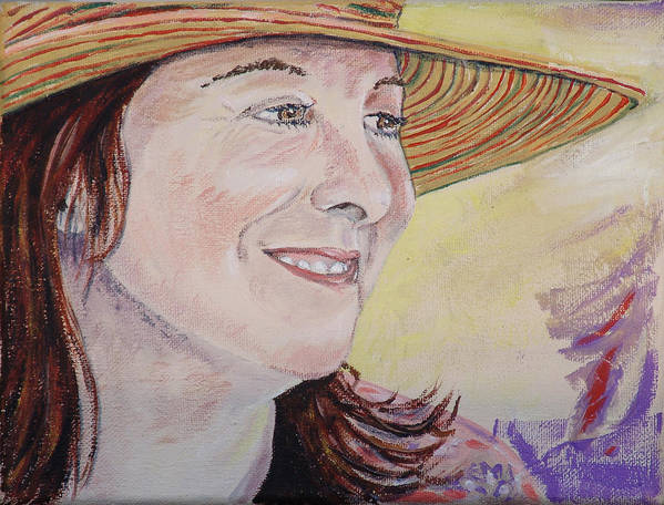Kevin Callahan Poster featuring the painting Nancy Sunshine by Kevin Callahan