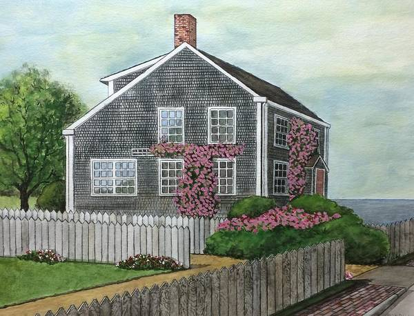 Poster featuring the painting Nantucket Roses by Ronald Dill