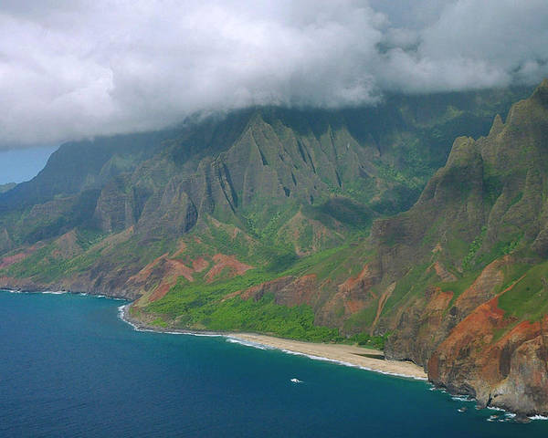Napali Coast Poster featuring the photograph Napali Coast - Kauai by Stephen Vecchiotti