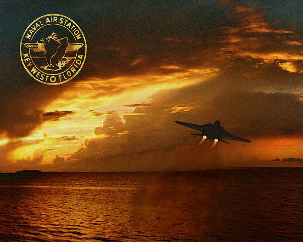 Nas Poster featuring the photograph Nas Key West Sunset by David Starnes