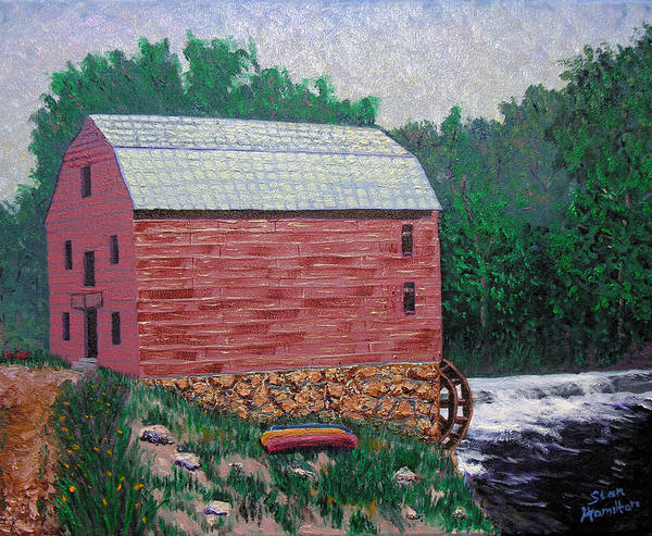Gristmill Poster featuring the painting Nashville Gristmill by Stan Hamilton
