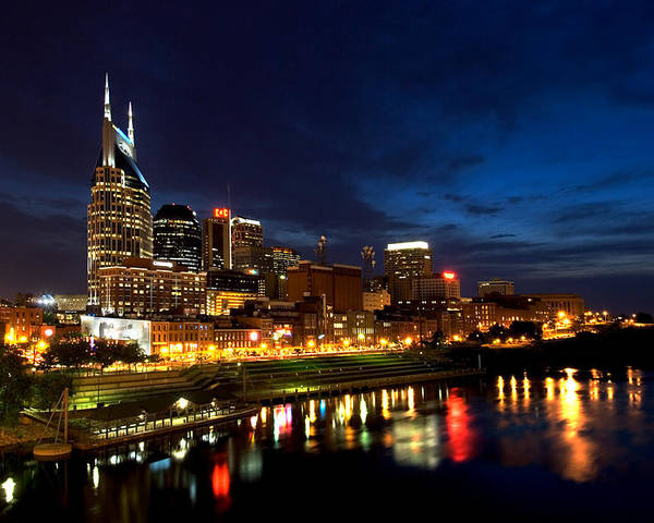 Nashville Poster featuring the photograph Nashville Skyline by Mark Currier
