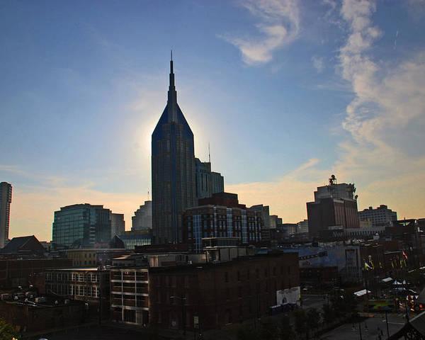 Nashville Photos Poster featuring the photograph Nashville Skyline by Susanne Van Hulst