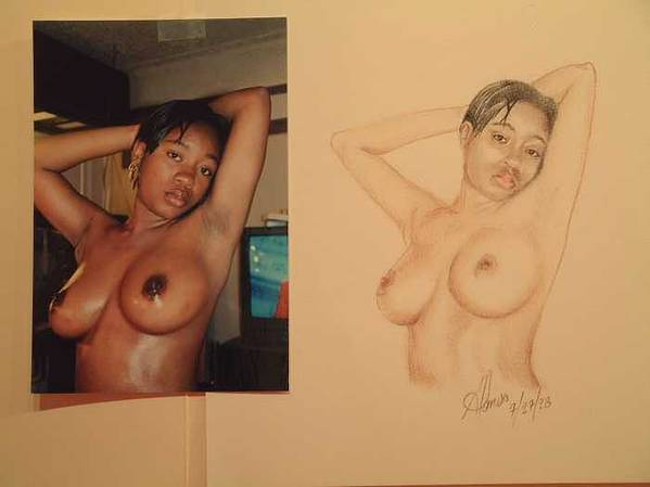 Nudes Poster featuring the painting Natasha by Benito Alonso