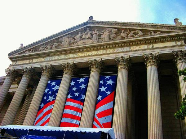 Washington Dc Poster featuring the photograph National Archive Building by Joyce Kimble Smith