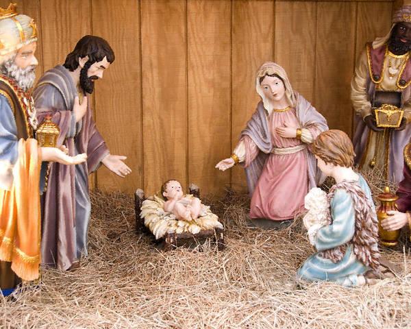 Nativity Scene Poster featuring the digital art Nativity Scene by Thomas R Fletcher